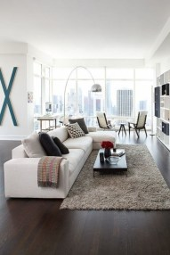 Design a living room in a small space that remains comfortablel 40