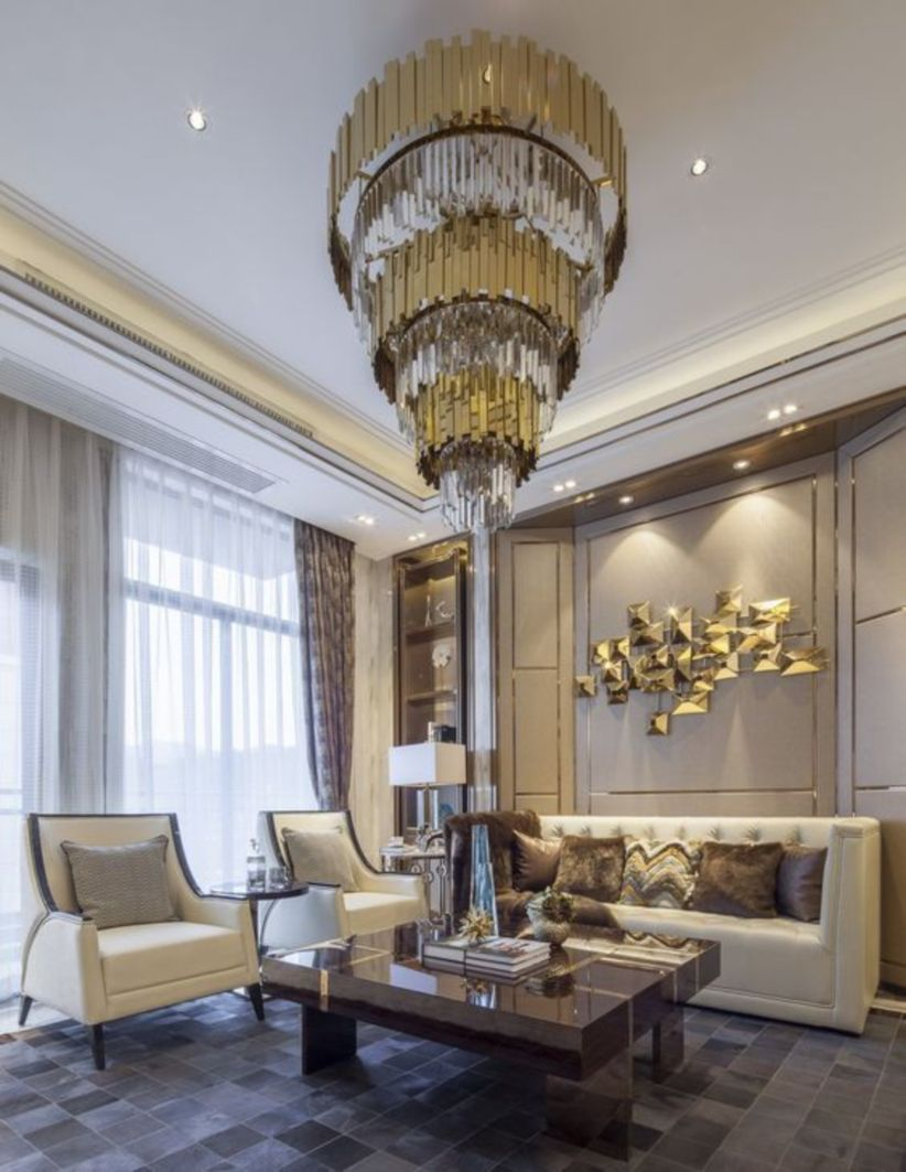 The design of the living room looks luxurious 13