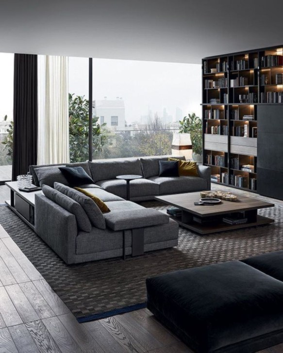 The design of the living room looks luxurious 22