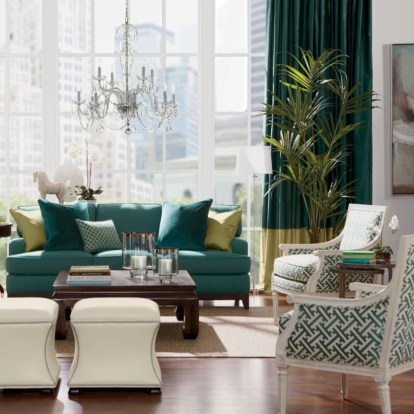 The design of the living room looks luxurious 26