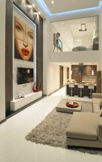 The design of the living room looks luxurious 31