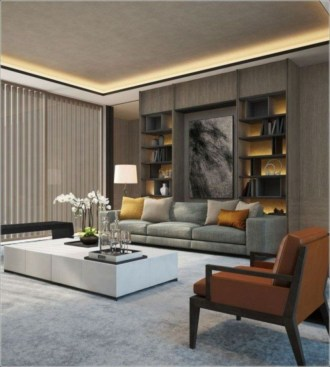 The design of the living room looks luxurious 35