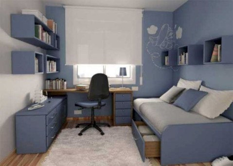 Bedroom ideas for small rooms for teens 43