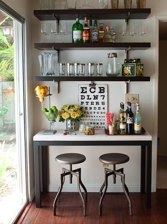 Amazing mini bar design ideas that you can copy right now 24