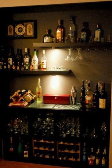 Amazing mini bar design ideas that you can copy right now 39