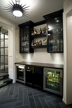 Amazing mini bar design ideas that you can copy right now 43