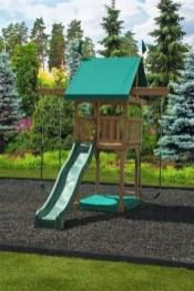 Backyard design ideas with children's slides 18