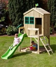 Backyard design ideas with children's slides 20