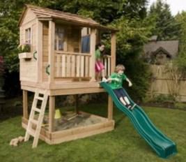 Backyard design ideas with children's slides 26