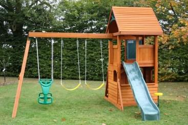 Backyard design ideas with children's slides 28