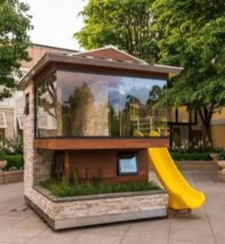 Backyard design ideas with children's slides 34