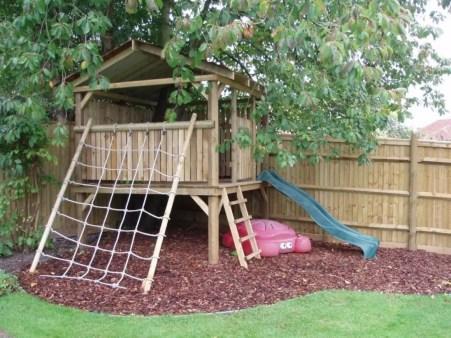 Backyard design ideas with children's slides 36