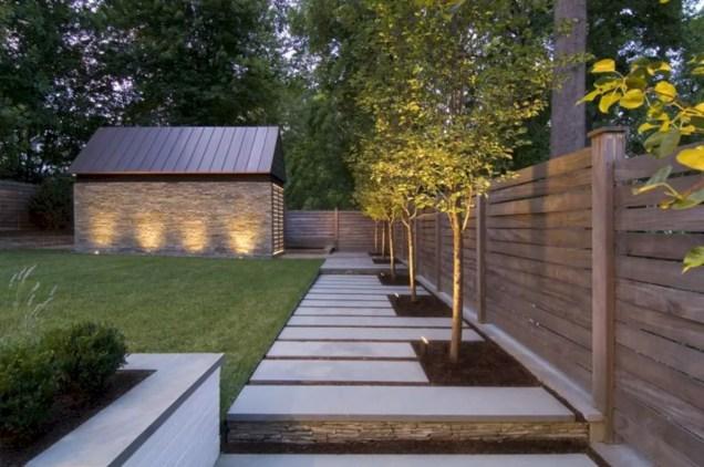 Garden exterior design ideas using grass that make your home more fresh 44