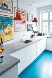 Kitchen floor design with the best motives 30