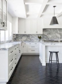 Kitchen floor design with the best motives 38