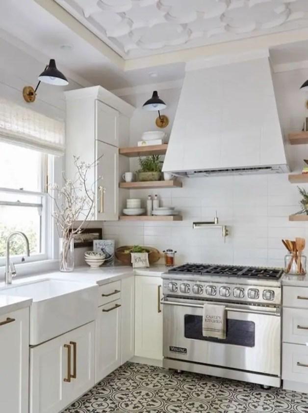 Kitchen floor design with the best motives 41