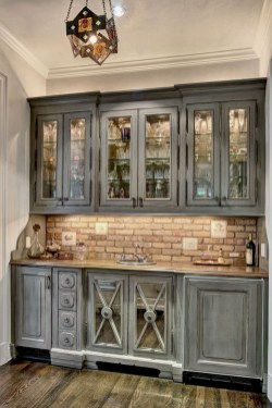 Rustic kitchen cabinet design ideas are very popular this year 08