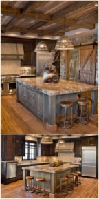 Rustic kitchen cabinet design ideas are very popular this year 19