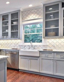 Rustic kitchen cabinet design ideas are very popular this year 40