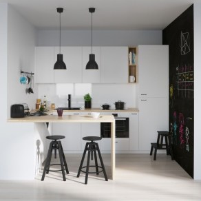 Simple kitchen design ideas that you can try in your home 38