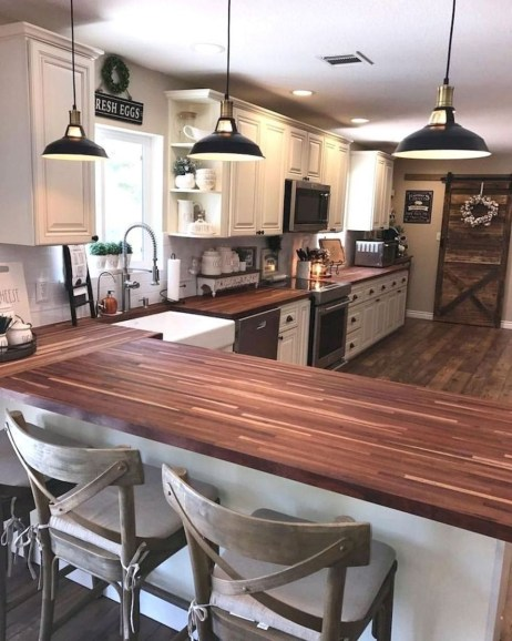 Simple kitchen design ideas that you can try in your home 40