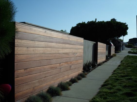The best fence wooden design that you can try in your home 11