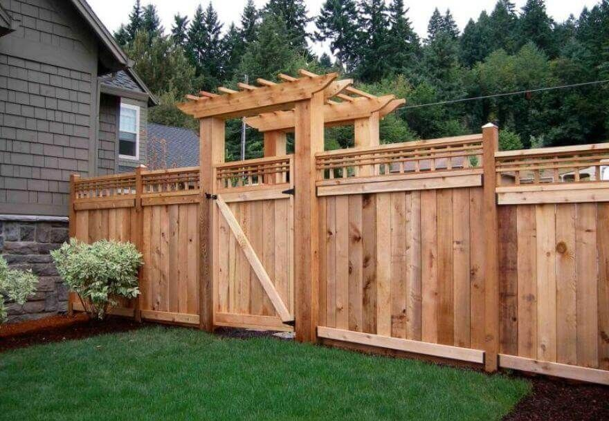 The best fence wooden design that you can try in your home 14
