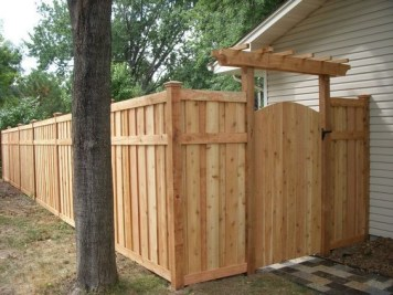 The best fence wooden design that you can try in your home 52