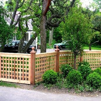 The best fence wooden design that you can try in your home 55