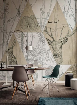 Amazing artistic wall design ideas for simple your home 18