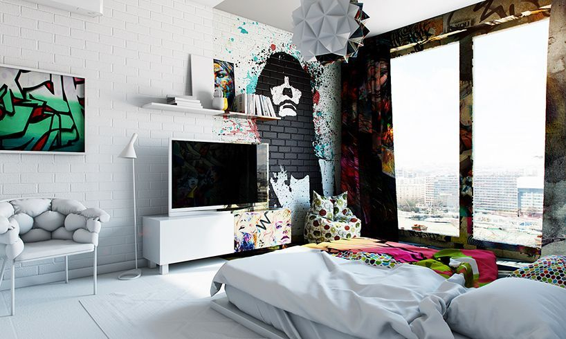 Amazing artistic wall design ideas for simple your home 24