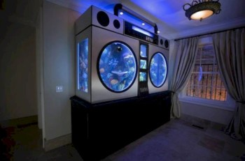 Aquarium design ideas that make your home look beauty 36