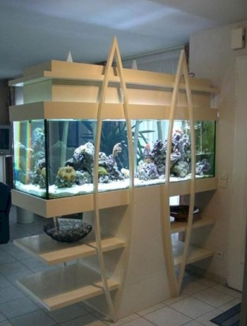 Aquarium design ideas that make your home look beauty 51