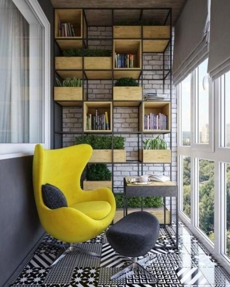 Beauty view design ideas for balcony apartment that make you cozy 10