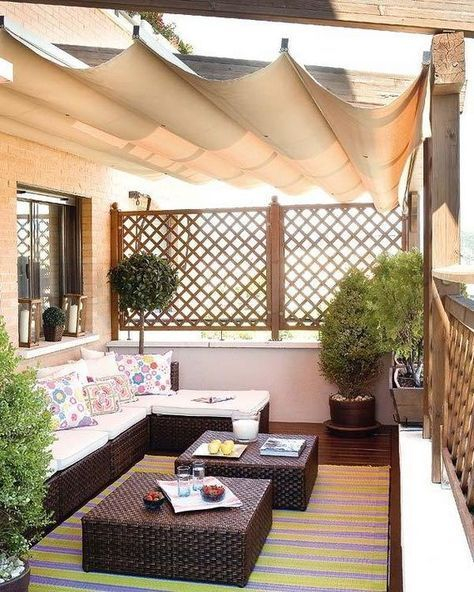 Beauty view design ideas for balcony apartment that make you cozy 34