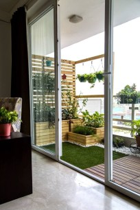 Beauty view design ideas for balcony apartment that make you cozy 45