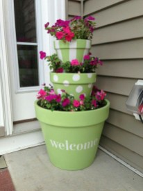 Flower pot decoration ideas that you can try in your home 04