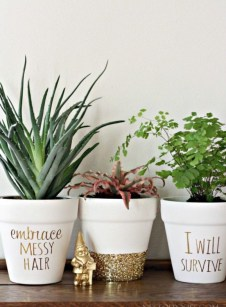Flower pot decoration ideas that you can try in your home 11