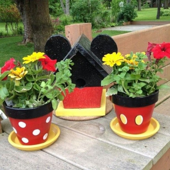 Flower pot decoration ideas that you can try in your home 23