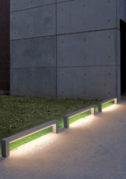 Front yard exterior design with beautiful garden lights 02