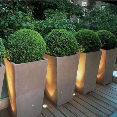 Front yard exterior design with beautiful garden lights 21