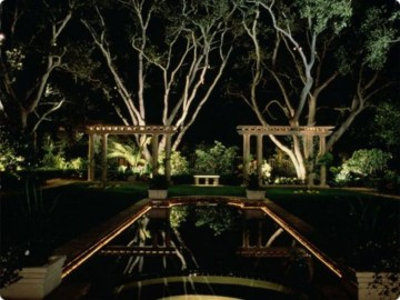 Front yard exterior design with beautiful garden lights 24