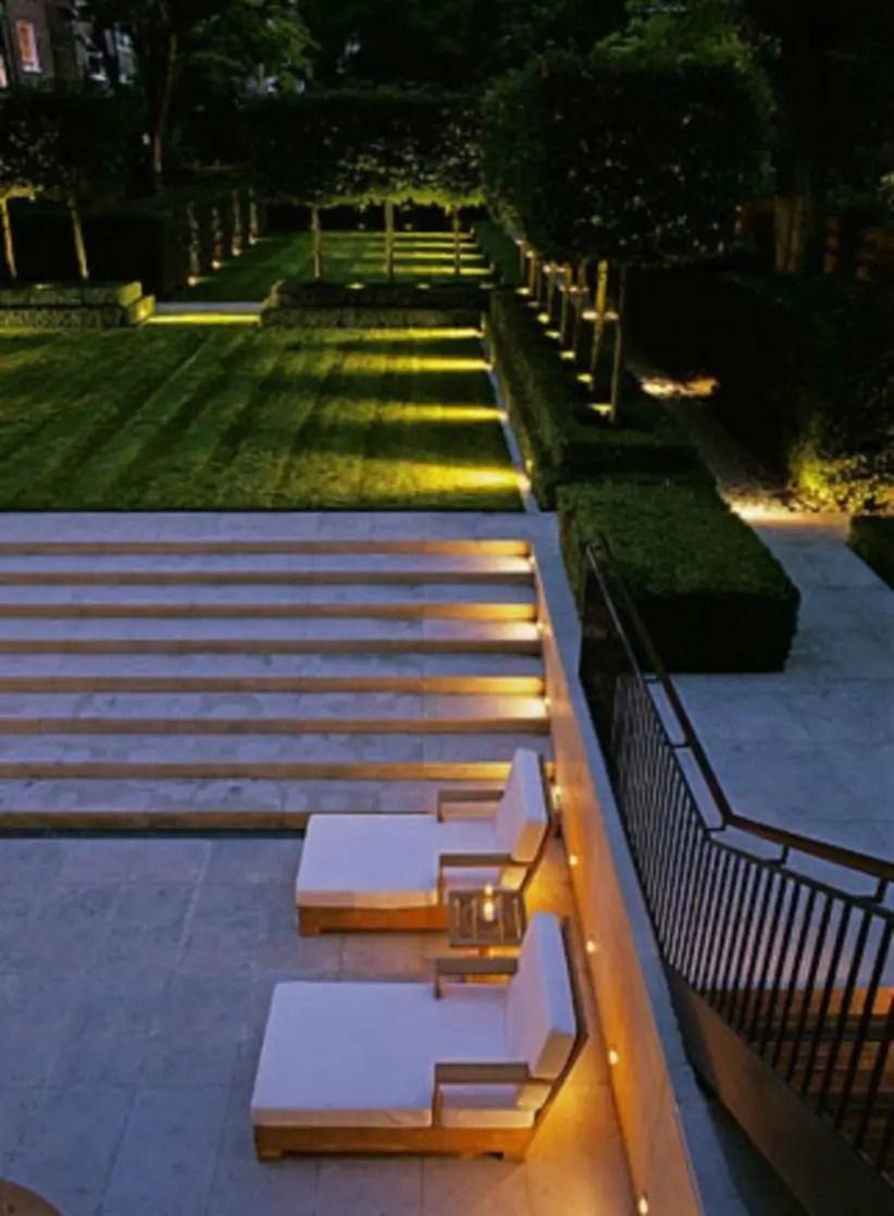 Front yard exterior design with beautiful garden lights 38