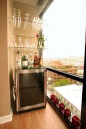 The best mini bar design ideas in balcony apartment 15