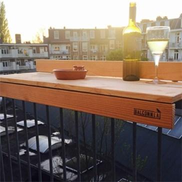 The best mini bar design ideas in balcony apartment 30
