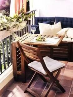 The best mini bar design ideas in balcony apartment 35