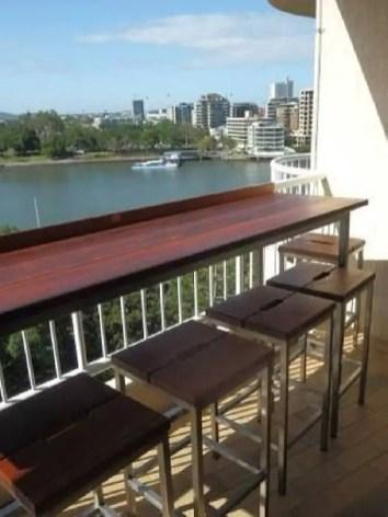 The best mini bar design ideas in balcony apartment 40