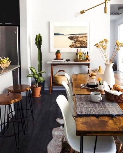 The best small dining room design ideas that you can try in your homel 45