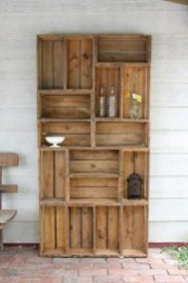 Wooden cabinet design ideas for book diy that you can make in your home 07