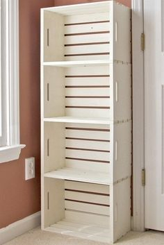 Wooden cabinet design ideas for book diy that you can make in your home 14